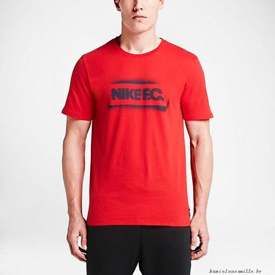 Playera Nike Fc Stencil Roja Premium Xs Ch 742600 Oferta