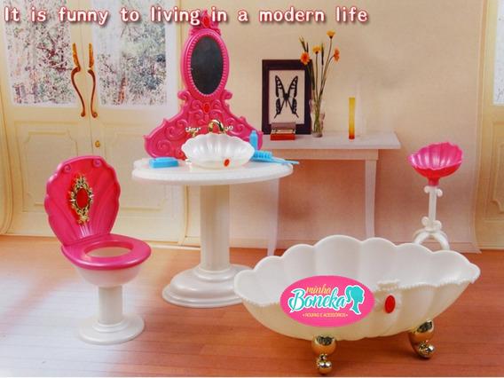 Banheiro Princesa Para Casa Da Boneca Barbie
