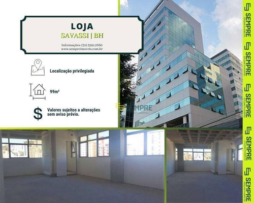 Imagem 1 de 19 de Sala Para Alugar, 99 M² - Savassi - Belo Horizonte/mg - Sa0070