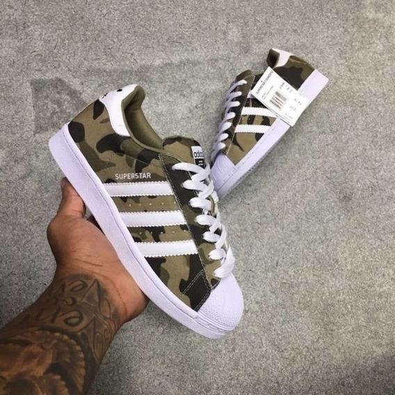 adidas Superstar Camurça Militar