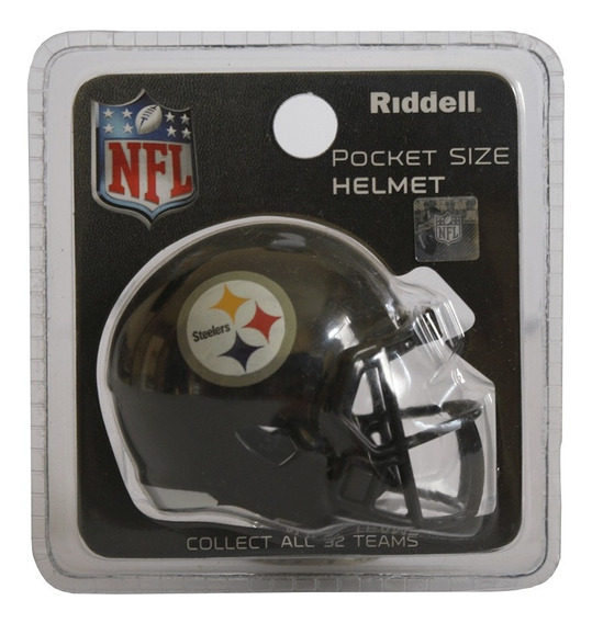 Mini Capacete Nfl Pittsburgh Steelers Riddell Nfl