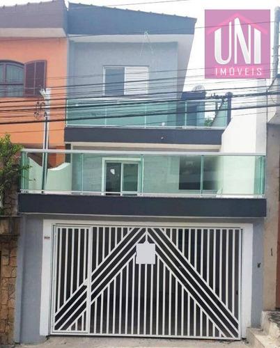 Imagem 1 de 30 de Sobrado Com 4 Dormitórios À Venda, 249 M² Por R$ 500.000,00 - Jardim Irene - Santo André/sp - So0504