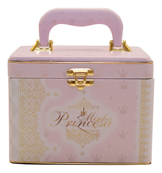 Álbum Maleta Box Luxo Minha Princesa P/240 Fotos 10x15