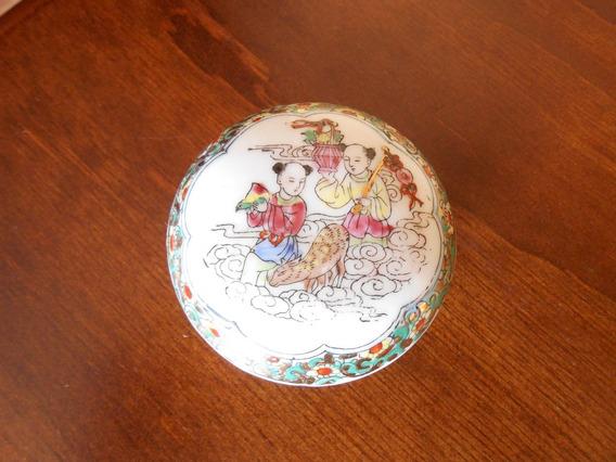Porta Jóias De Porcelana Chinesa