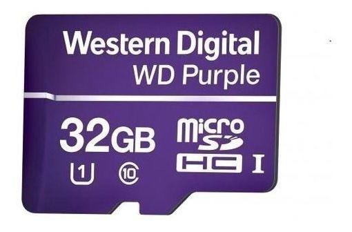Cartão De Memória Microsd Intelbras Wd Purple 32gb