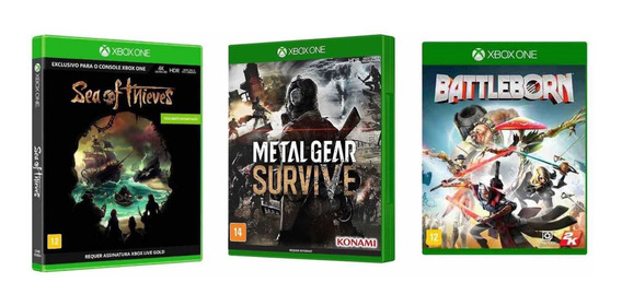 Kit Loucura 3 Jogos Xbox One Lacrados E Originais