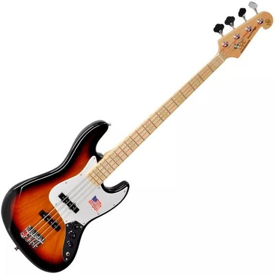 Contra Baixo Sx Jazz Bass Sjb75 3ts Sunburst 4 Cordas