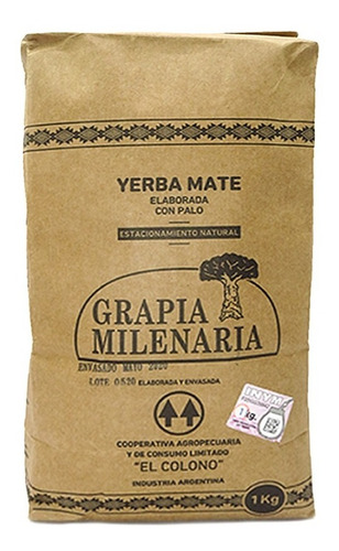 Imagen 1 de 7 de Yerba Grapia Milenaria Pack 10 X 1 Kg