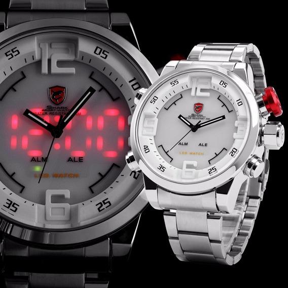 Reloj Shark Gulper Hombre Deportivo Led Original