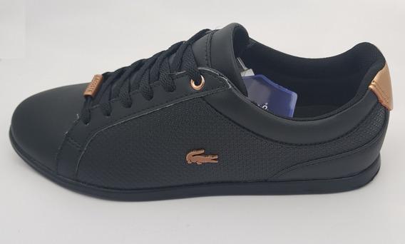 Zapato Tenis Para Dama Lacoste Rey Lace Negro