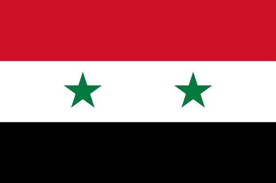 Placa Quadro Decorativo Da Bandeira Da Síria 28x20 Cm