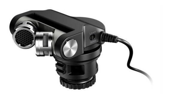 Microfone Tascam Tm 2x Dslr Gravação Câmera