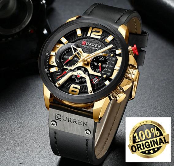 Relógio Masculino Curren De Luxo Top Original