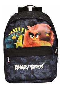 Mochila Escolar Infantil Preta Angry Birds Santino Descolada