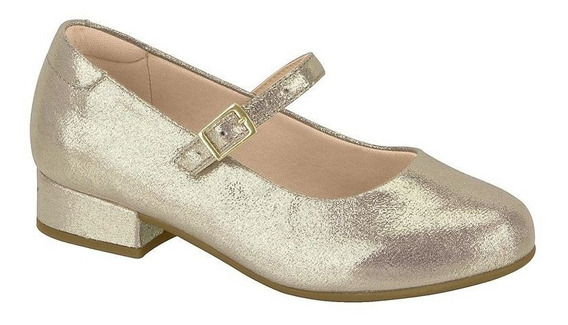 Sapato Infantil Feminino Molekinha Dourado 2528.101