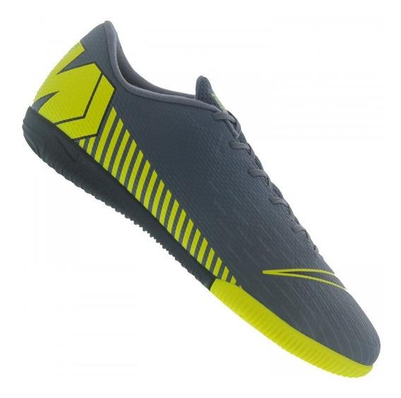 Tênis Futsal Nike Vapor 13 Academy Ic Chumbo/amarelo