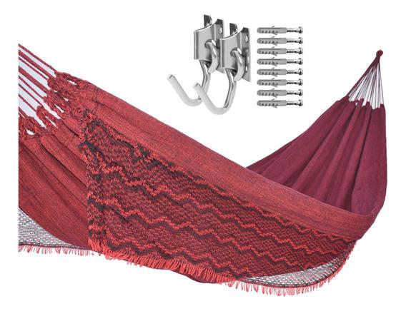 Kit 1 Rede Descanso Dormir Jeans E 1 Par De Gancho Completo