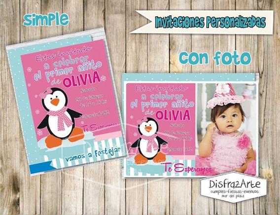 Invitaciones Digitales Infantiles Pingüinos