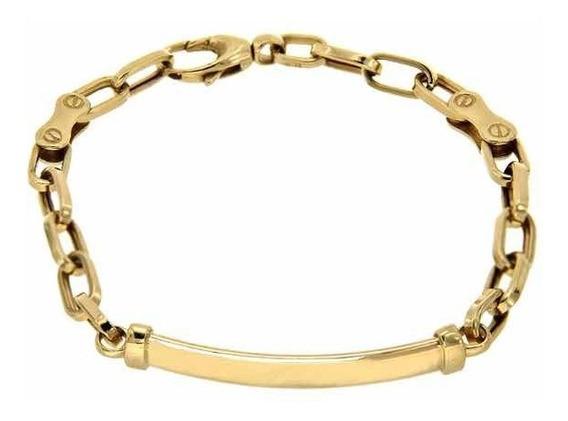 Esclava Eslabón Ovalado Caballero Oro Macizo 14 K