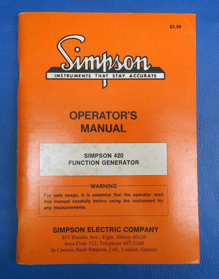 Manual Do Simpson 420 Function Generator