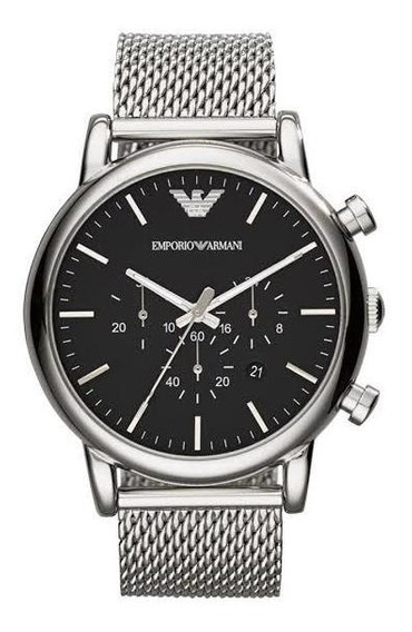 Relógio Emporio Armani Prata Ar1808 Ar1811