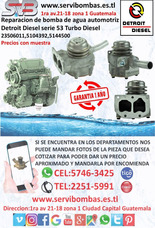 Bombas De Agua Automotrices Detroit Diesel Serie 53 Guatemal