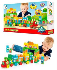 Brinquedo Educativo Trenzinho Didático 70pç - Cardoso Toys