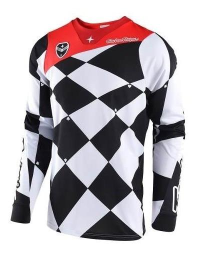 Remera Motocross Troy Lee Se Joker Blanco/negro