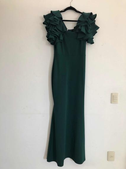 Vestido Verde Esmeralda Talla Mediana