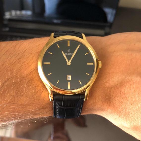 Relógio Dourado Festina