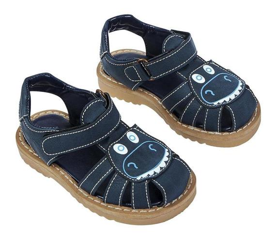 Zapato Sandalia Cangrejera Niño Diseño Hipopótamo Color Mari