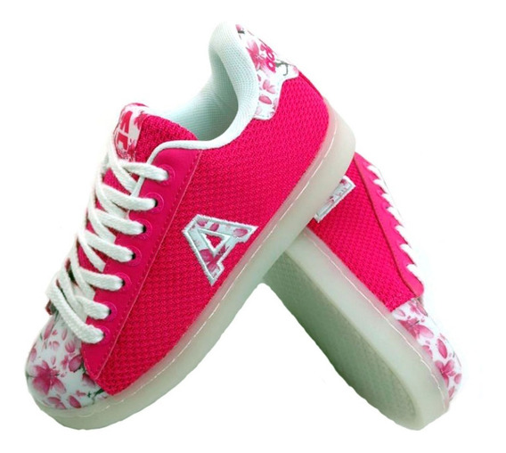 Zapatillas Addnice Led Usb Flores Lusbflc03 Empo2000