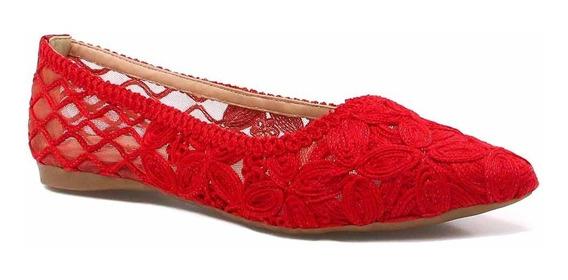Sapatilha Zariff Shoes Floral Renda 795-4533