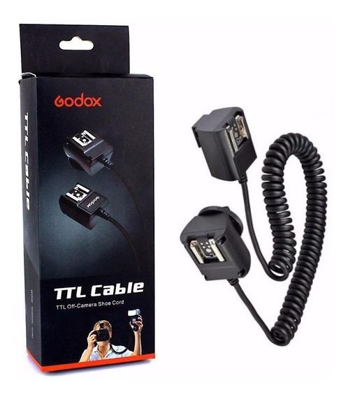 Cabo Ttl Para Flash Canon Com 3 Metros Godox