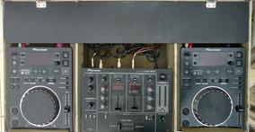 Baixei, Seminovo! 02 Pioneer Cdj350, 01 Djm300 E Case Grátis