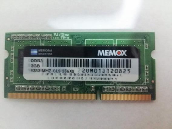 Memorias Ddr3 2gb 1333mhz So-dimm Pc3-10600 Notebook Netbook
