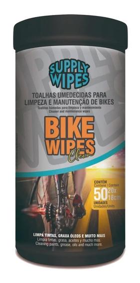 Lenços Umedecidos Bike Wipes Com 50 Unidades Suppy Wipes