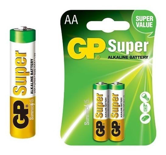 Pilas Aa Gp Super Alcalina 1.5v Blister De 2 Caja De 20und