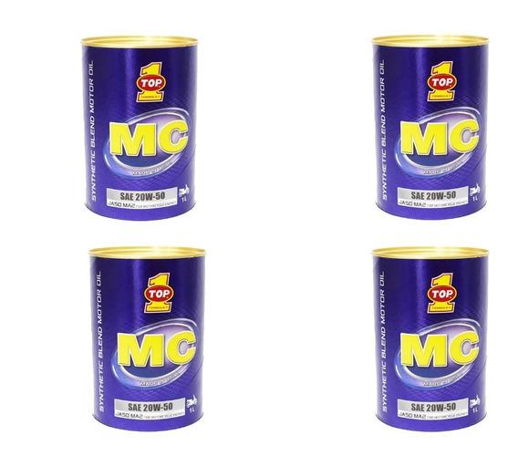 Aceite Top 1 Mc 20w50 4t Sintetico Cajax4 Ud Qt