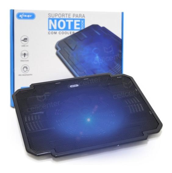 Suporte Para Notebook Até 17 Cooler Led 700rpm Knup Kp-9012