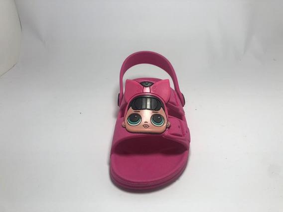 Promoção 50% Papete Crocs Infantil Lol Rosa