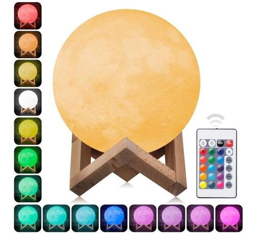 Luminária Para Quarto Lua Cheia 3d Abajur Usb Touch Usb