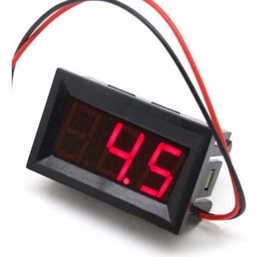 Kit 10 Voltímetro Digital Medidor Bateria Som