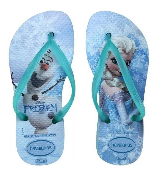 Ojotas Havaianas - Modelo Kid Slim Frozen Ice Blue