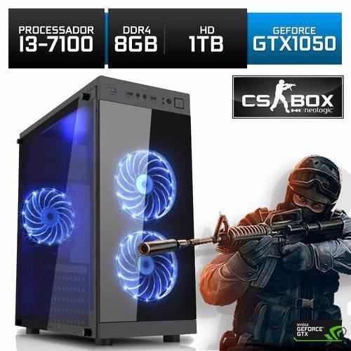 Pc Gamer Intel I3-7100 Gtx 1050 8gb 1tb Cs Box