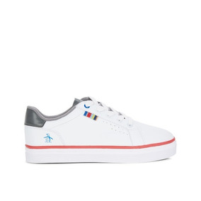 Tenis Original Penguin Joven Blanco Flag Colors 23cm-25cm