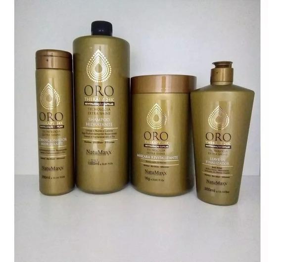 Natumaxx Kit Oro Therapy 24k 4 Produtos Kit Combo Completo