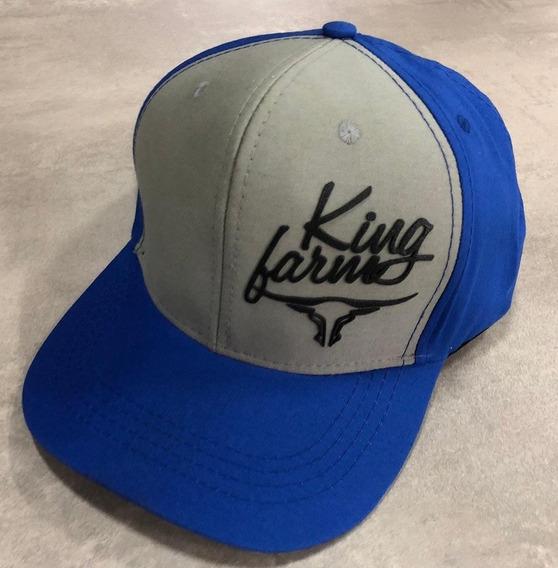 Bone King Farm Cinza Aba Azul