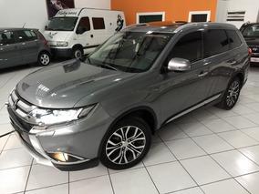 Mitsubishi Outlander Gt V6 2017 Cinza 3.0 Aut 4x4 Teto7 Lug