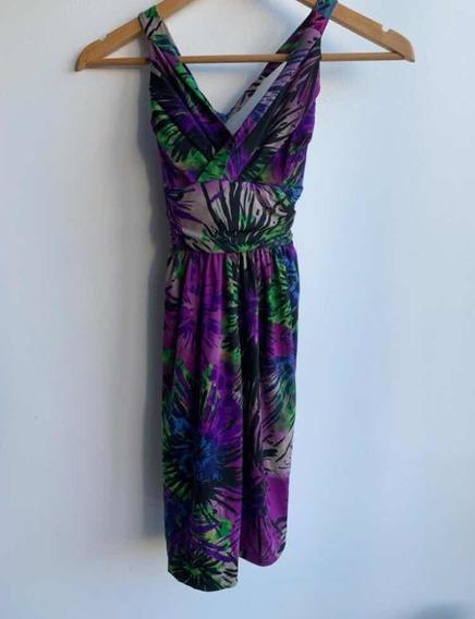 Vestido Floreado Violeta